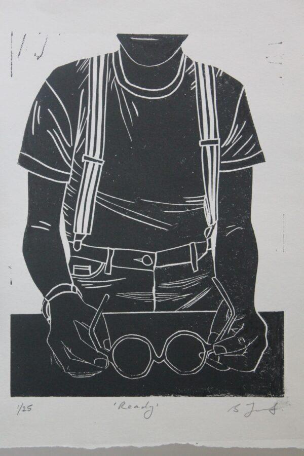 Ready Linocut Print