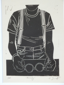 Ready. Billie Josef Linocut Print