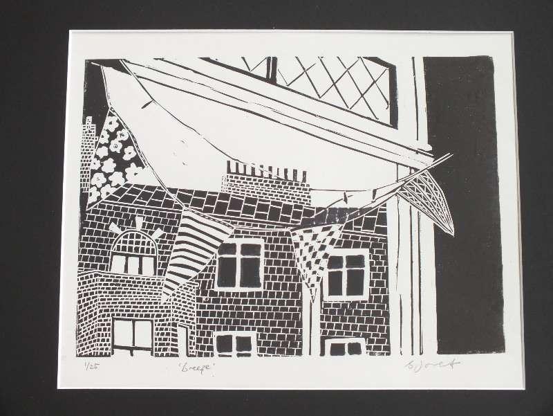 Breeze. Billie Josef Linocut Print