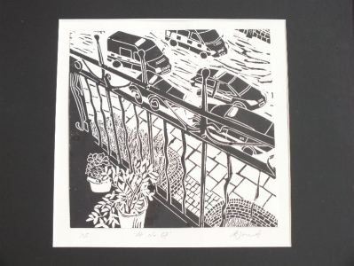 At No.67. Billie Josef Linocut Print