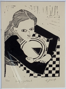Self-portrait. Billie Josef Linocut Print