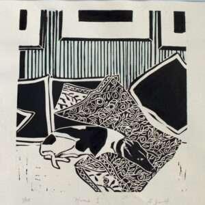 Mine Linocut Print