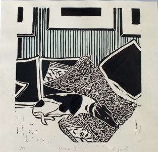 Home 1. Billie Josef Linocut Print