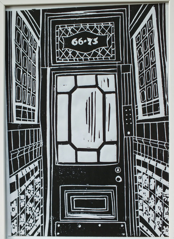 Doorway. Billie Josef Linocut Print