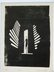 See. Billie Josef Linocut Print