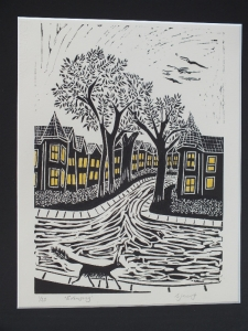 Evensong. Billie Josef Linocut Print