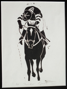 Thunder. Billie Josef Linocut Print