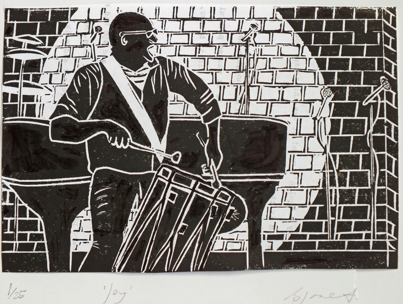 Joy. Billie Josef Linocut Print