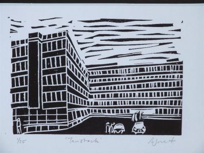 Tavistock. Billie Josef Linocut Print