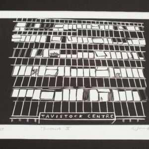 120 Belsize Lane Linocut Print