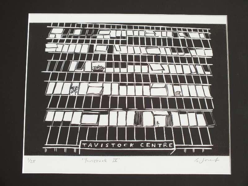 Tavistock IV. Billie Josef linocut Print