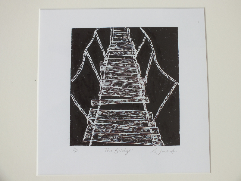 The Bridge. Billie Josef Linocut Print
