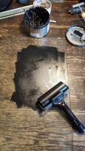 linocut ink roller