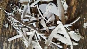 linocut print shavings