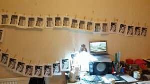 linocut prints drying