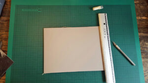measuring linocut plate