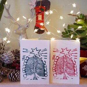billie josef linocuts christmas cards