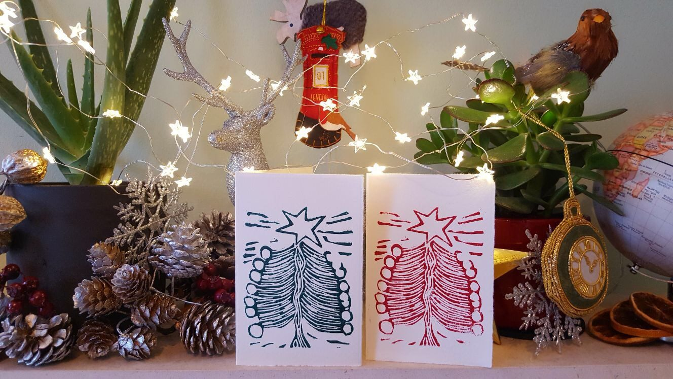 billie josef linocuts christmas cards